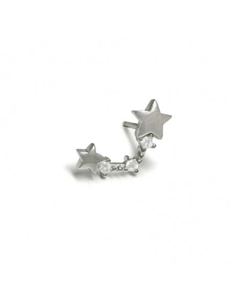 Pendiente plata estrellas