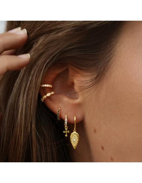 Pendiente ear cuff circonitas