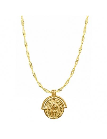 colgante medalla vintage oro