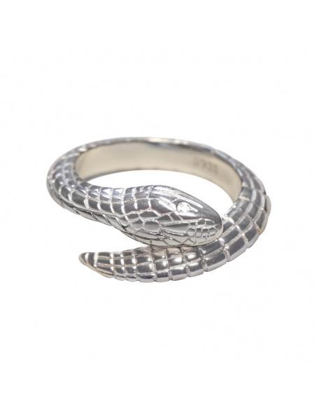 Anillo serpiente plata