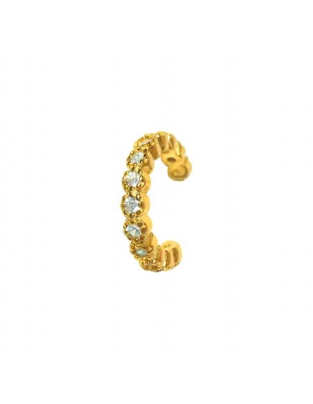 Pendiente earcuff circonitas oro