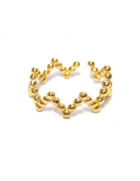 anillo zig zag oro