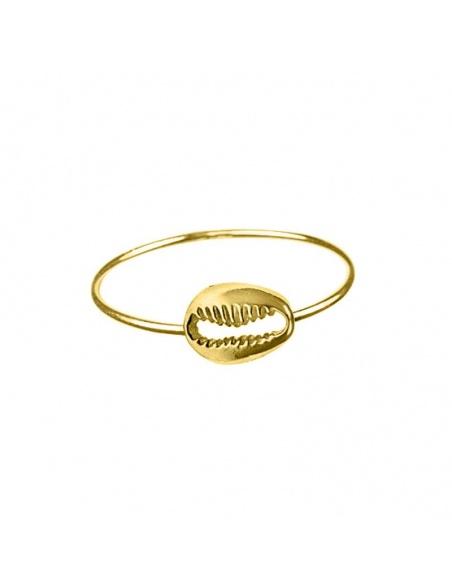 anillo concha oro