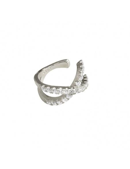earcuff exis plata circonitas