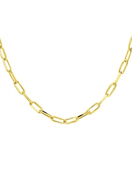 collar cadena rectangular oro