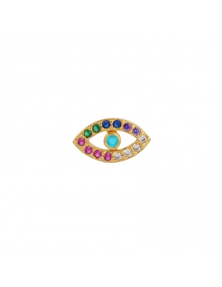 ojo circonitas colores oro