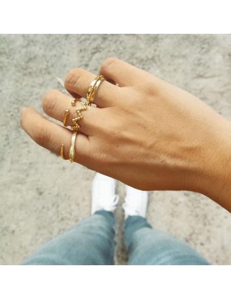 anillo geometrico oro