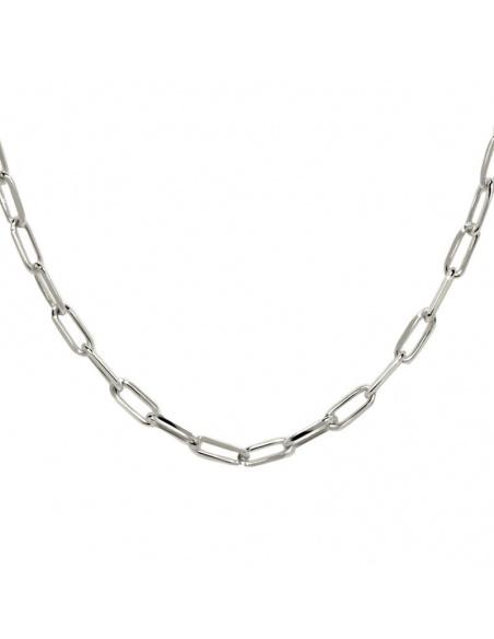 collar cadena rectangular plata