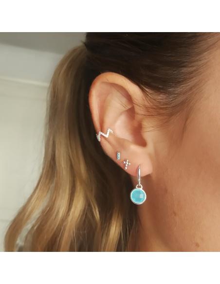 earcuff plata zigzag