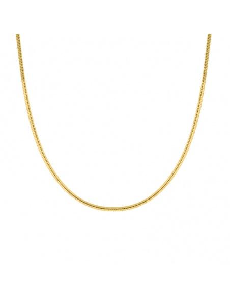 cadena tubular oro