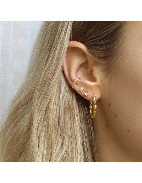 pendientes aro oro mujer