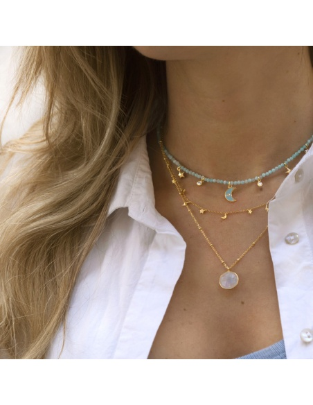 collares mujer oro
