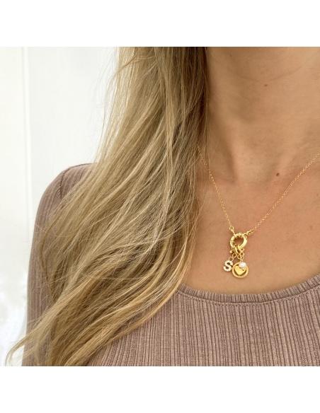 collar personalizado charms oro