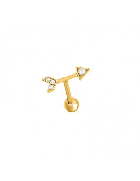 Piercing flecha oro