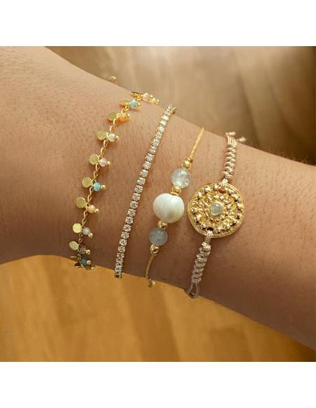 pulseras mujer oro