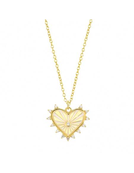 colgante corazon oro