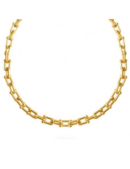 collar cadena eslabones oro