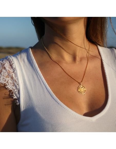 colgante medalla azteca oro